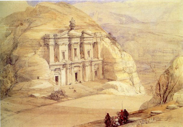 "Ad Deir (""The Monastery"") in 1839, by David Roberts."
