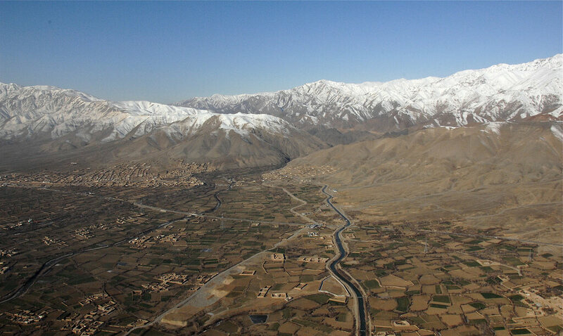 Bagram Valley, Afghanistan today.