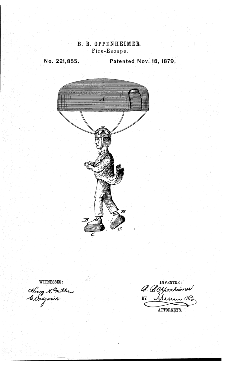 The parachute helmet would have also come with a pair of thick cushioned shoes.