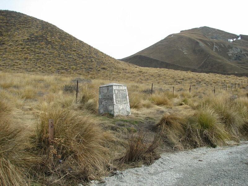 A memorial commemorating the site where red deer were first released in New Zealand, by the Otago Acclimatisation Society.