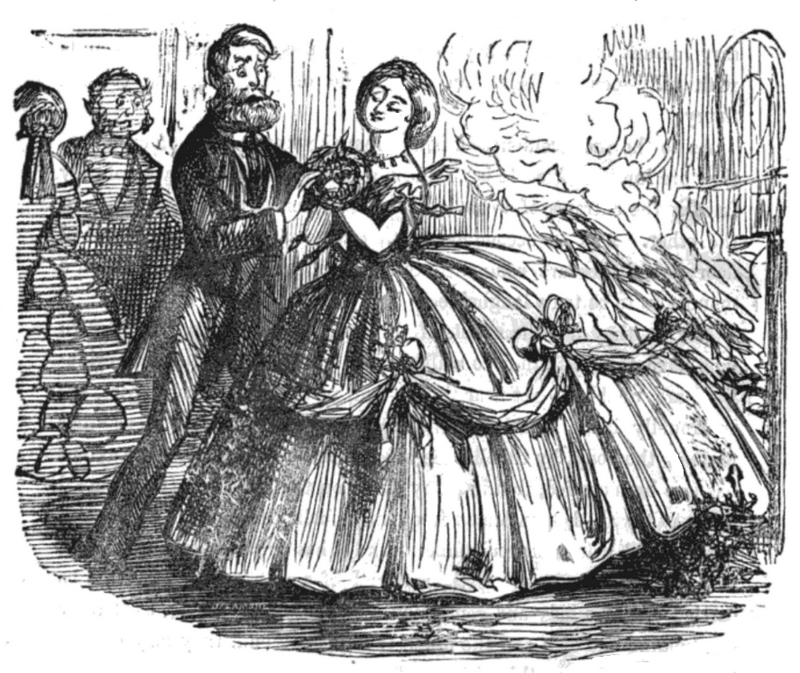 Crinoline dresses were a dangerous, highly flammable fashion.