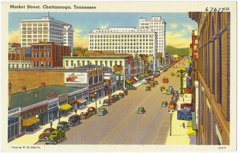 Market Street, Chattanooga, in the 1930s.
