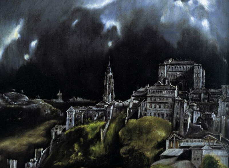 A detail from El Greco's <em>A View of Toledo</em>, late 16th century.