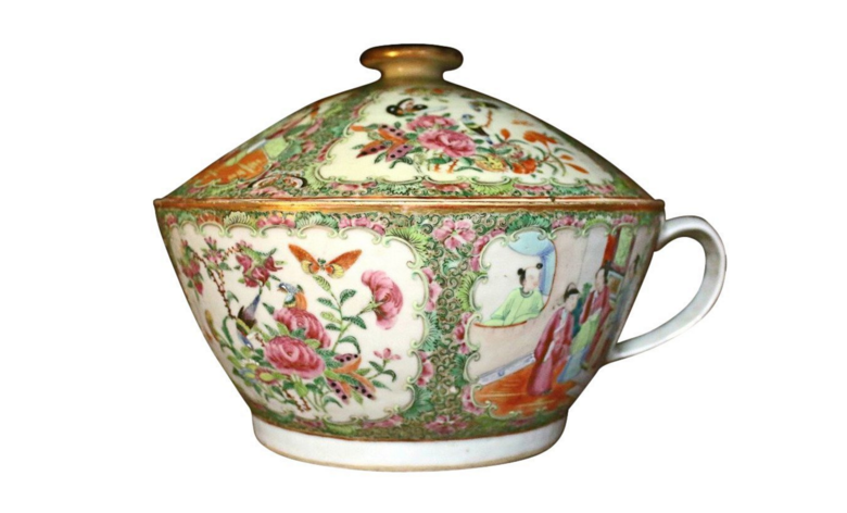 1800s Canton Chinese chamber pot.