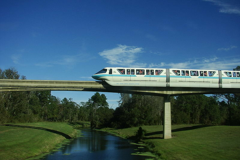 The monorail transports you.
