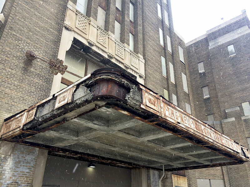 One of the biggest challenges to restoring the terminal are the harsh Buffalo winters, that have been gradually eroding the building for decades.