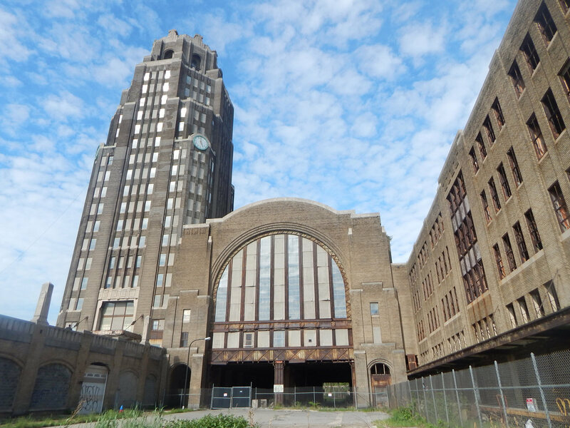 The exterior of Buffalo Central Terminal.