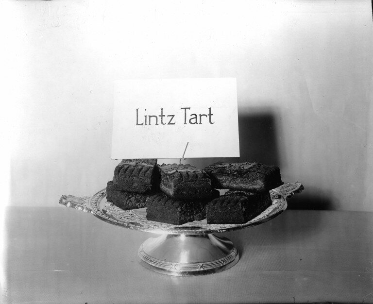 Lintz Tart, a wheatless pastry with grated lemon and cinnamon.
