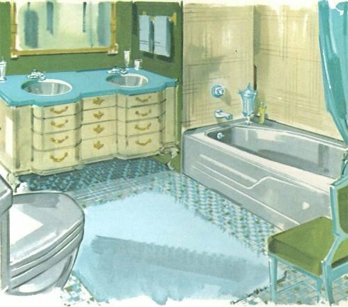 An advertisement for an American Standard bathroom from 1962.