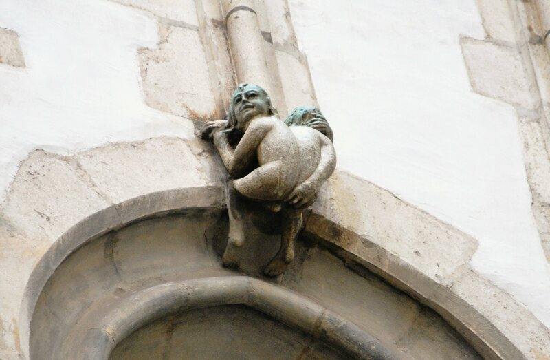 The Indecent Little Man of St James Church.