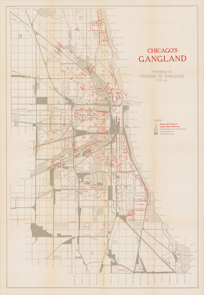A 1927 Map Reveals the HideOuts of Chicagos Most Notorious – Chicago Travel Map