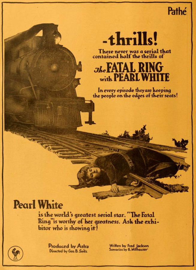 Look closely. That poor woman has simply fallen on the tracks.