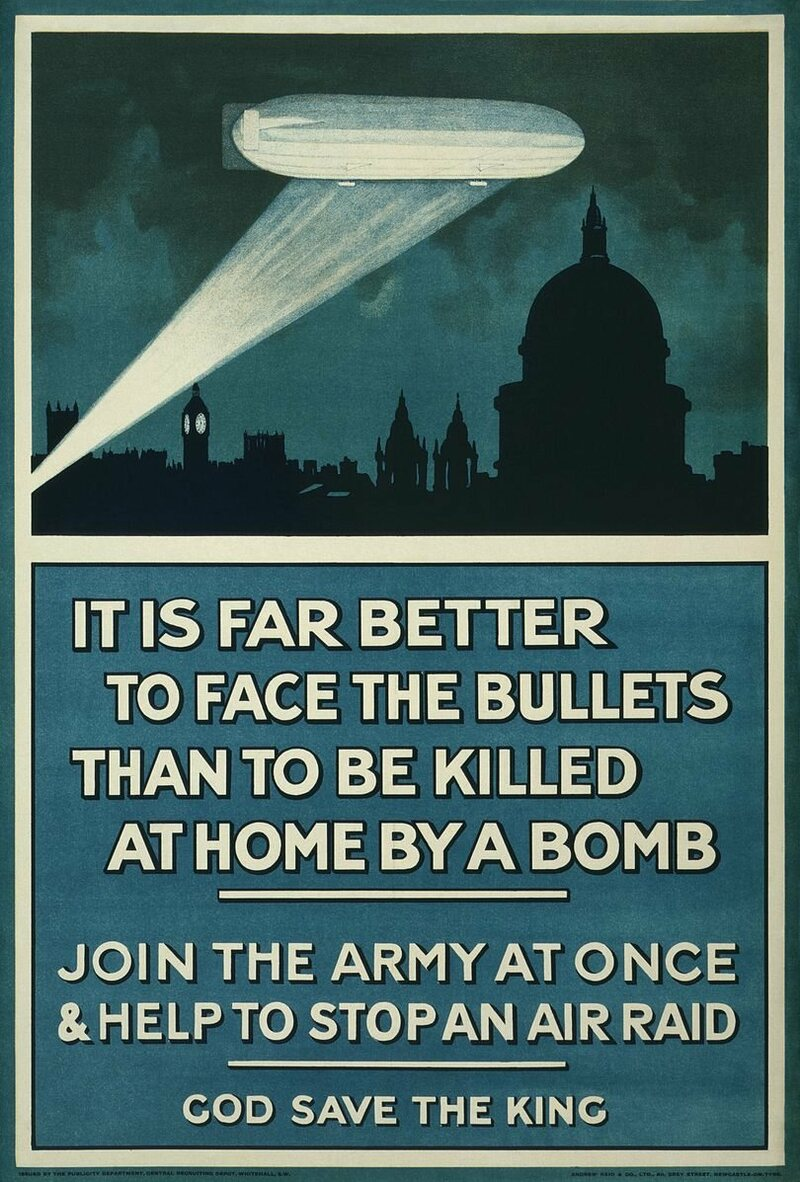 A Zeppelin-based recruitment poster by the British government.