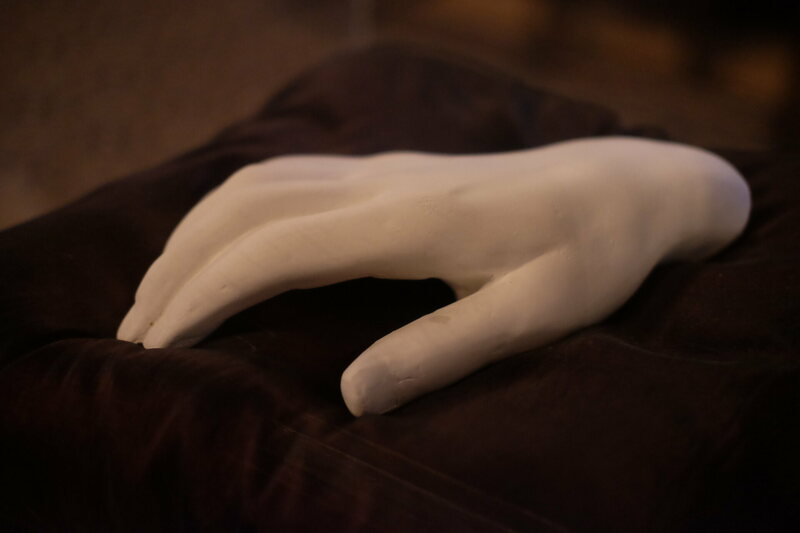 The death hand at the pub.