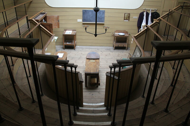 The operating theatre at Saint Thomas' Hospital, where stolen cadavers would have been dissected for anatomy lectures.