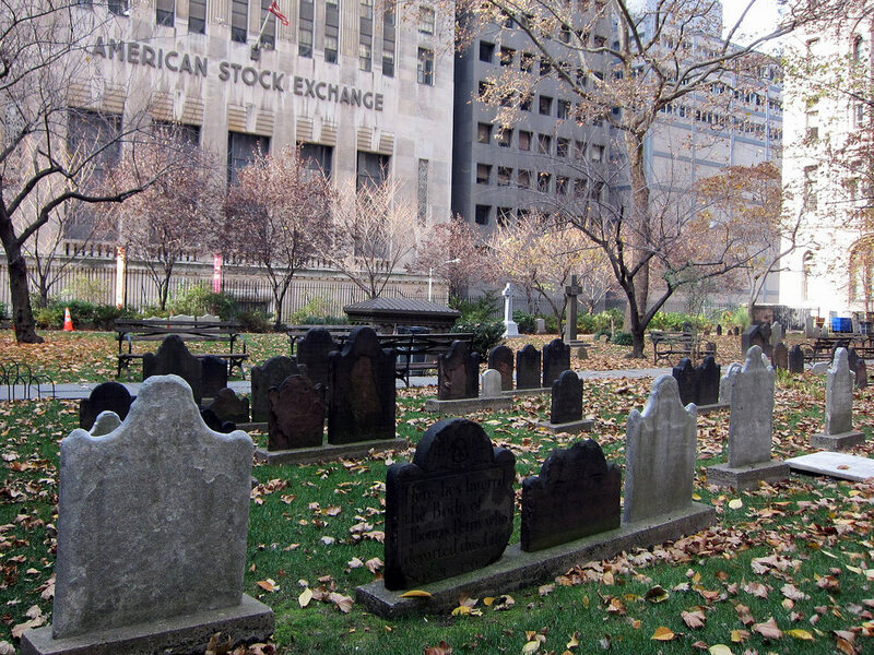 A woman's body was stolen from Trinity Churchyard on February 21, 1788.