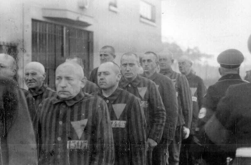 Prisoners at concentration camp at Sachsenhausen, Germany, December 19, 1938.