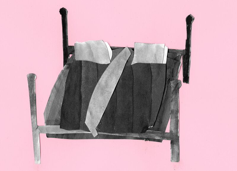 The bundling bag was not always enough. When two people bundled, a bolster or wooden board was installed to separate the two halves of the bed.