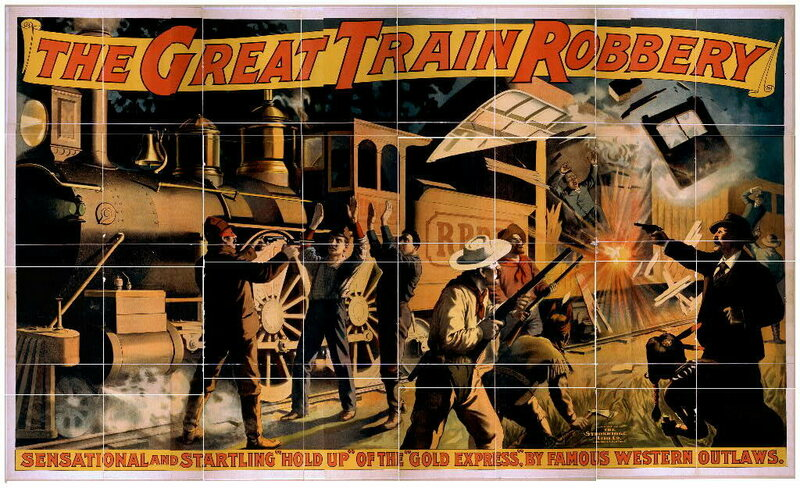 The Great Train Robbery also had bad guys with white hats.