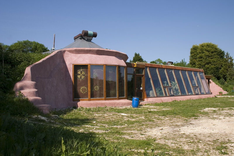 Earthships can be found around the world. This one is in Brighton, England.
