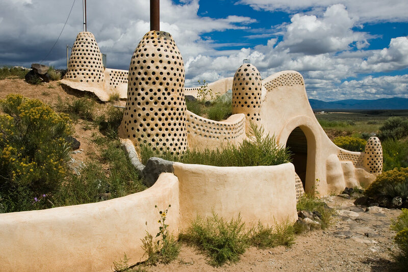 The Earthship Visitor Center near Taos, New Mexico.