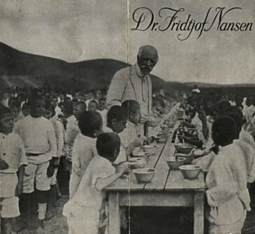 Nansen spends time with Armenian orphans in Gyumri.