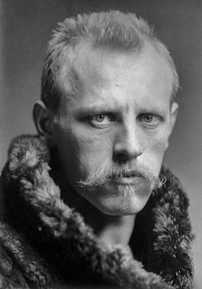 A young Fridtjof Nansen, dressed for the weather.