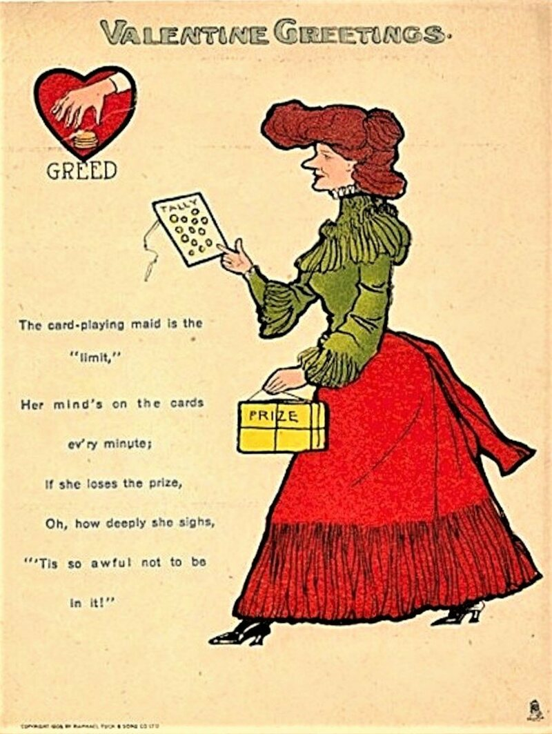 Vinegar valentines were also called Penny Dreadfuls.