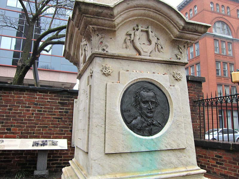 Edgar Allan Poe's final resting place.
