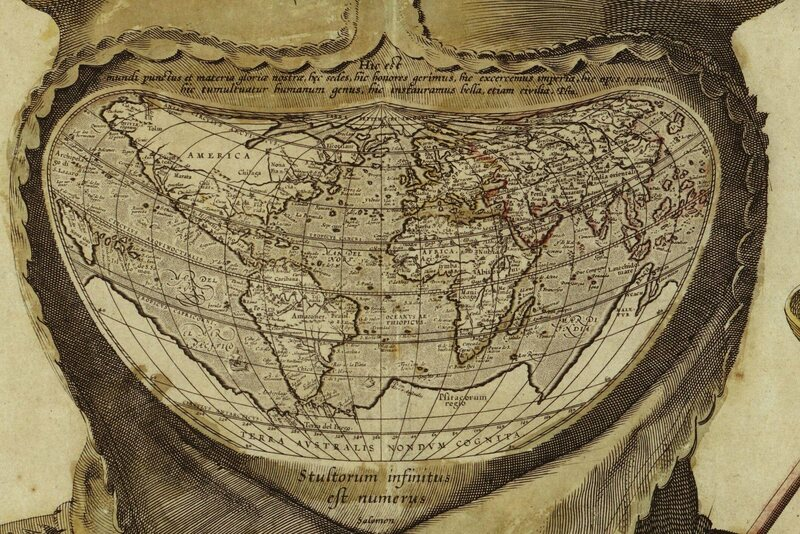 The map appears to be an Ortelius projection, which indicates that it was most likely published post-1587.