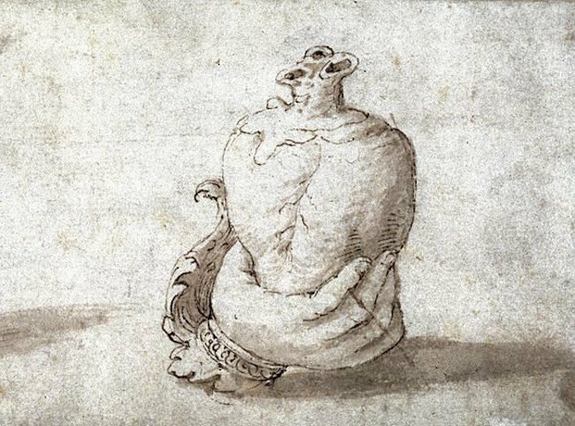 A drawing of a heart from the 16th century.