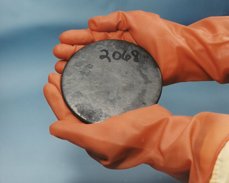 Not the uranium found in Phoenix—this disc was recovered at a U.S. government nuclear facility.