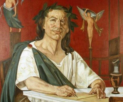 The Roman poet Horace as portrayed by Giacomo Di Chirico in the 19th century.