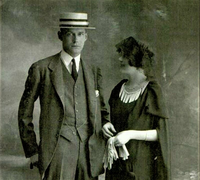 Harry and Polly Crosby shortly after their marriage in Paris, 1922.