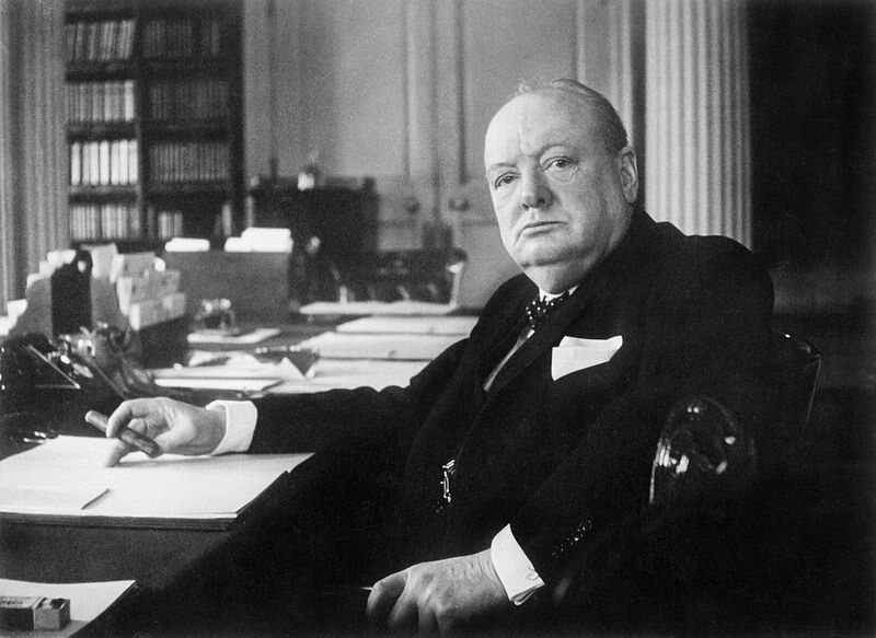 Churchill before his retirement.