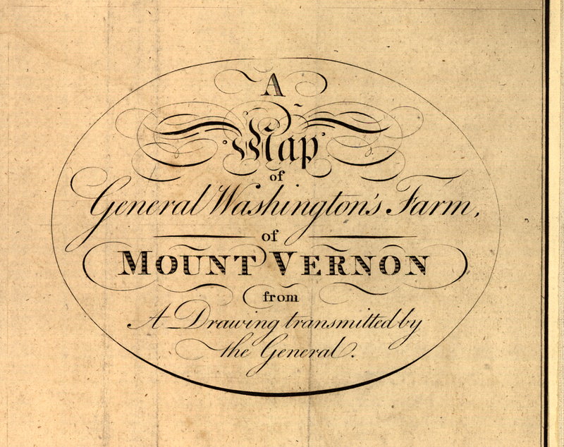 George Washingtons Own Map Of Mount Vernon Atlas Obscura - Map of us when george washington was president
