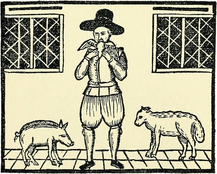Nicholas Wood, The Great Eater of Kent, here eating a duck.