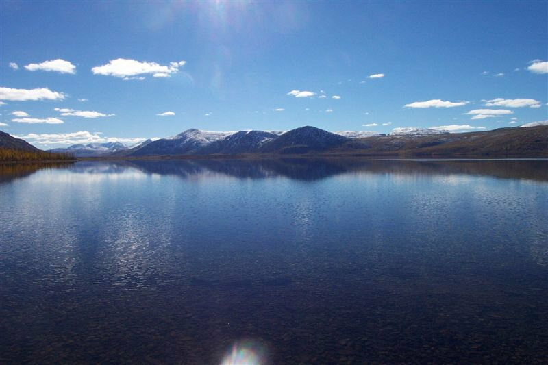 Lake Labynkyr, purported home of ferocious lake monster.