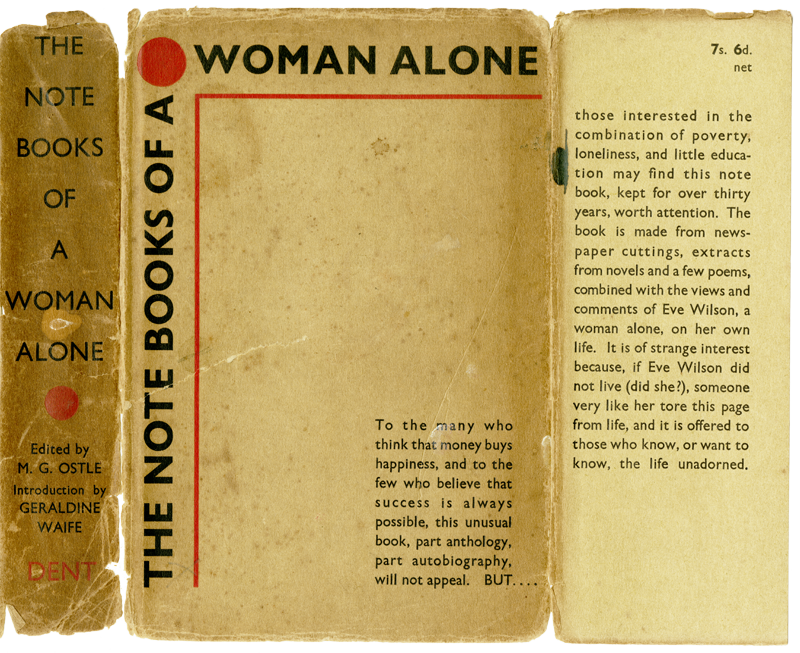 The Note Books of a Woman Alone: the real name of the author is unknown.