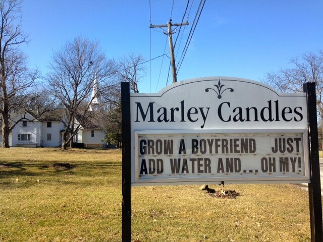 Business is booming at the candle store.