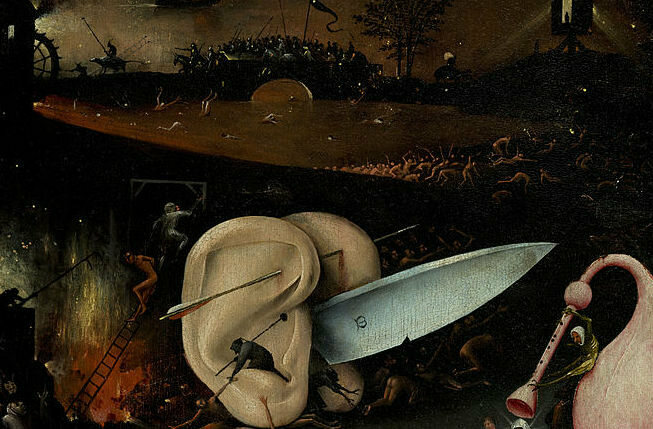 Some parts of the triptych were meant to portray hell.