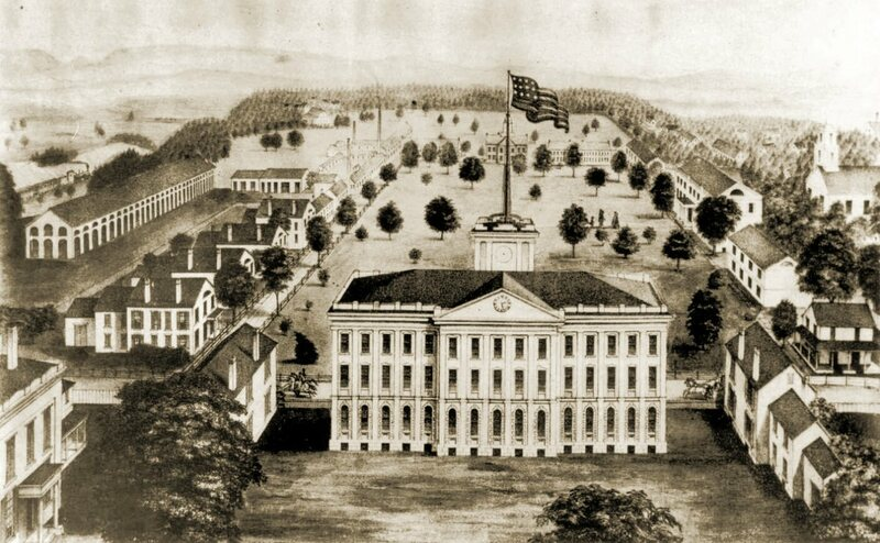 The Springfield Armory in 1850, about a decade before the Civil War.