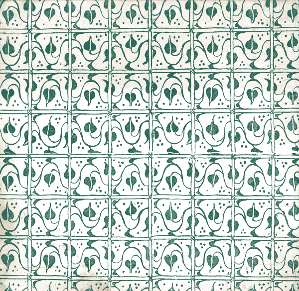 Repeating floral or vegetal patterns became popular in the 19th century.