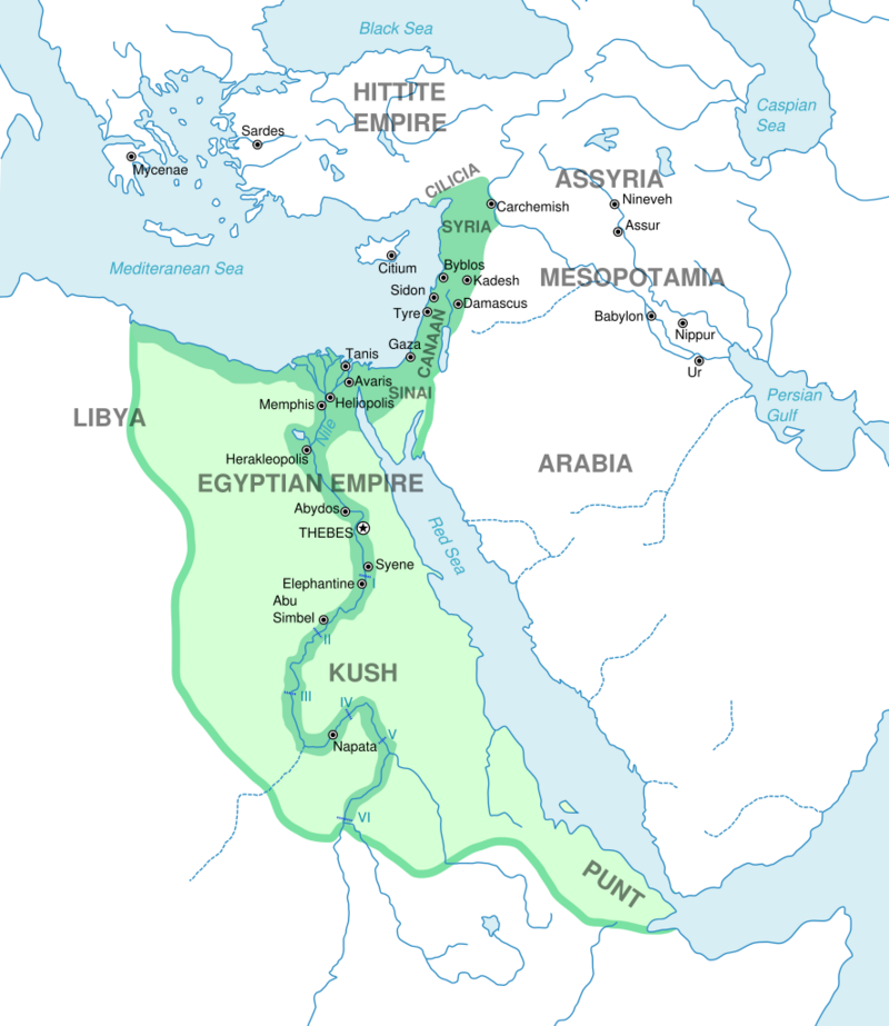 The greatest extent of the New Kingdom