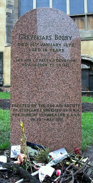 Headstone of Greyfriars Bobby