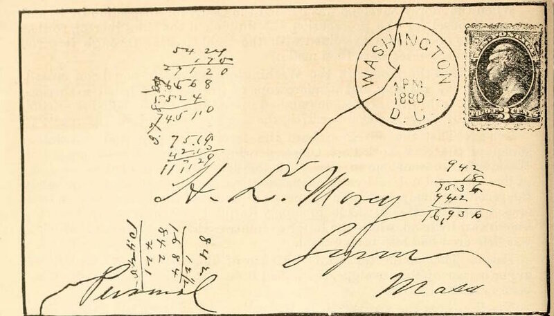 The envelope of the Morey letter.