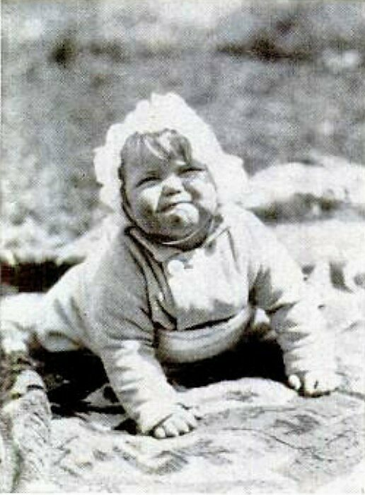 "Baby Johnny in 1931, before he was unscrupulously employed to play ""Baby Hitler."""