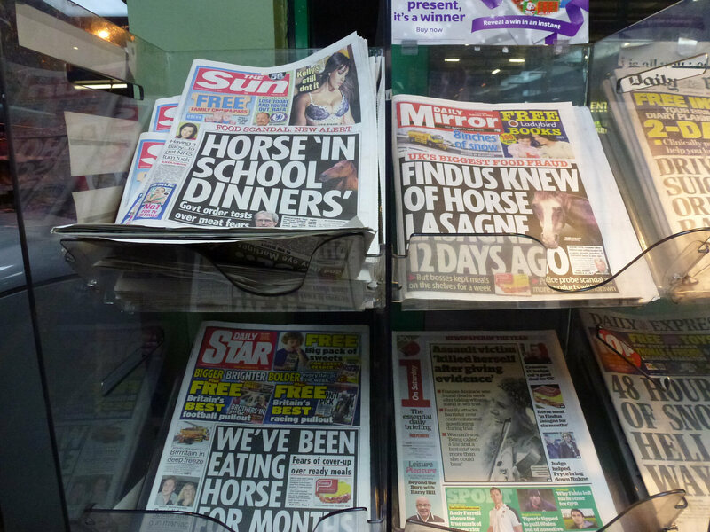 Headlines from the height of the 2013 scandal.