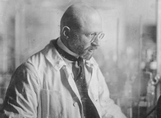 Fritz Haber in the lab.