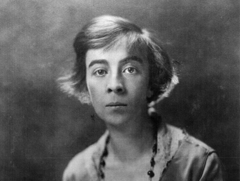 Ruth Hale as a university student c. 1900 (she entered college at the age of 13). Hale co-founded the Lucy Stone League to support a woman's right to use her maiden name after marriage.